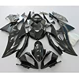 Alpha Rider Motorcycle ABS Injection Mold Gloss Black Painted Fairing Bodywork kits Set For Yamaha YZF R6 2008 - 2015