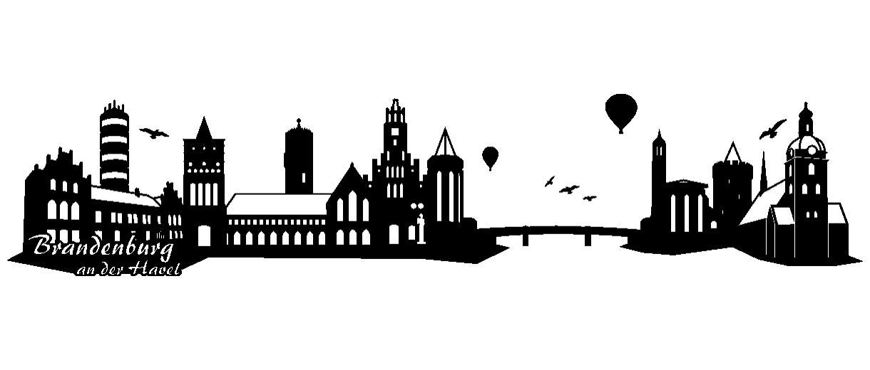 Samunshi® Wandtattoo Brandenburg an der der der Havel Skyline in 6 Größen und 19 Farben (240x51cm schwarz) B008KEL5FW Wandtattoos & Wandbilder 7363ec