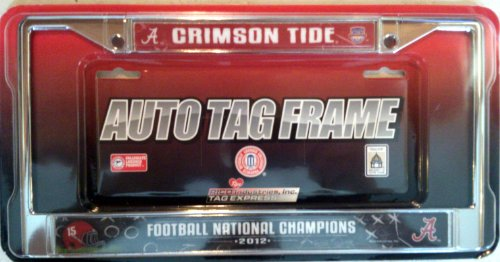 Alabama Crimson Tide Metal Chrome Frame Cover 2012 BCS National Football Championship University (Bcs Championship Football)