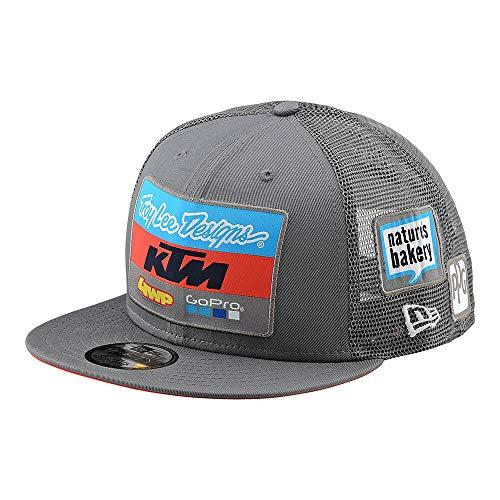 Troy Lee Designs 2019 Adult KTM Team Snapback Hat (One Size, Gray)