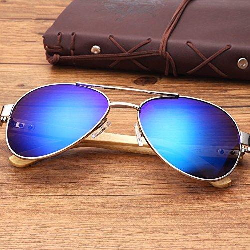 Espejo De Bambú TIANLIANG04 Vintage Vidrio Coloreado Sol De Piernas Oval Gafas Un De Unisex vpvxwg1