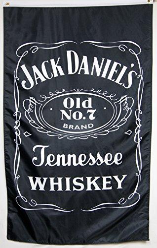 Jack Daniel's Old No.7 Sour Mash Whiskey Flag 5' X 3' Deluxe Vertical Banner
