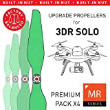 MAS Upgrade Propellers for 3DR Solo with Built-in Nut in Green - x4 in Set