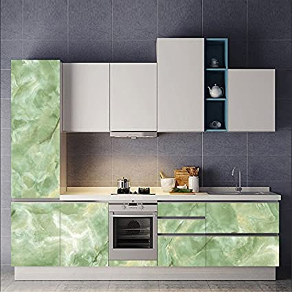 AmazingWall Marble Wallpaper Wall Sticker Backsplash Removable Counter Top  Kitchen Furniture Bathroom 23.62x70.87\