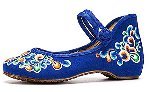 TIANRUI CROWN Women and Ladies' Embroidery The Flower Embroidery Ladies' Casual Mary Jane Shoes Chinese Cloth Shoe B01N63IZ67 Shoes 173b82