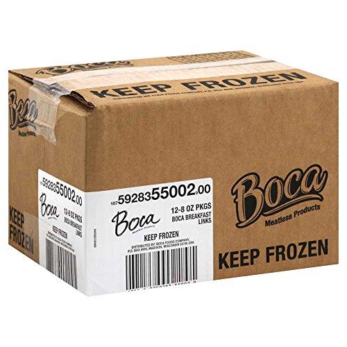 Kraft Frozen Boca Breakfast Sausage Meatless Link, 8 Ounce -- 12 per case.