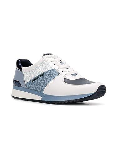fce6e36d8664f Michael Kors MK Women's Allie Trainer Leather (9.5, Light Blue)