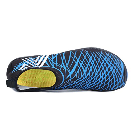 With Zy Womens Shoes Swim Driving Beach Walking Water Men Yoga blue Garden Park Lake Quick Drainage Dry For Barefoot Holes Sports 14 CIOR Aqua wzS5Bq8