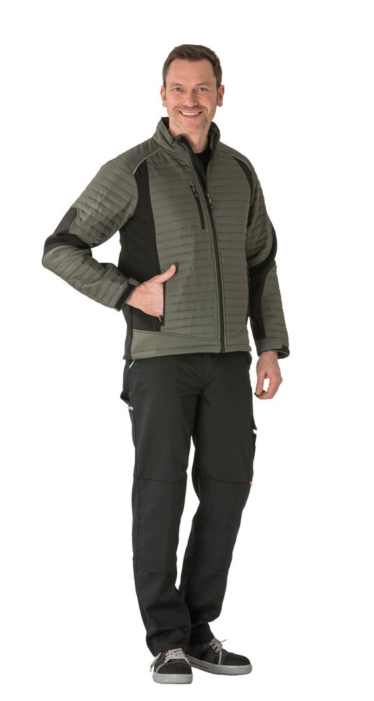 Planam 3670044''Outdoor'' Air Protective Work Jacket, Small, Green/Black by Planam (Image #1)