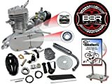 #3: BBR Tuning 48cc Silver Motorized Bicycle Kit – 2 Stroke Gas Powered Bike Motor Engine