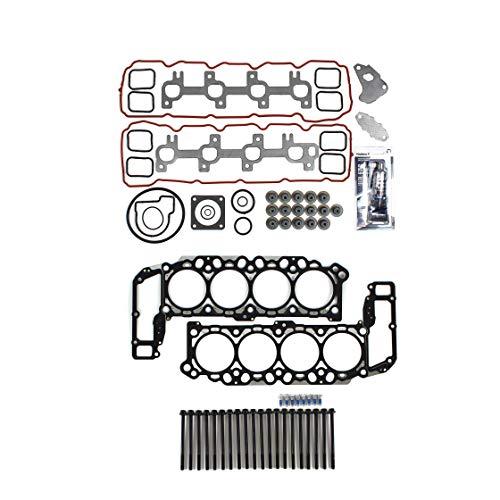 Head Gasket Kit Bolts Compatible w/Dodge 1999-2003 Dakora Durango RAM Jeep 4.7 SOHC VIN J, N ()