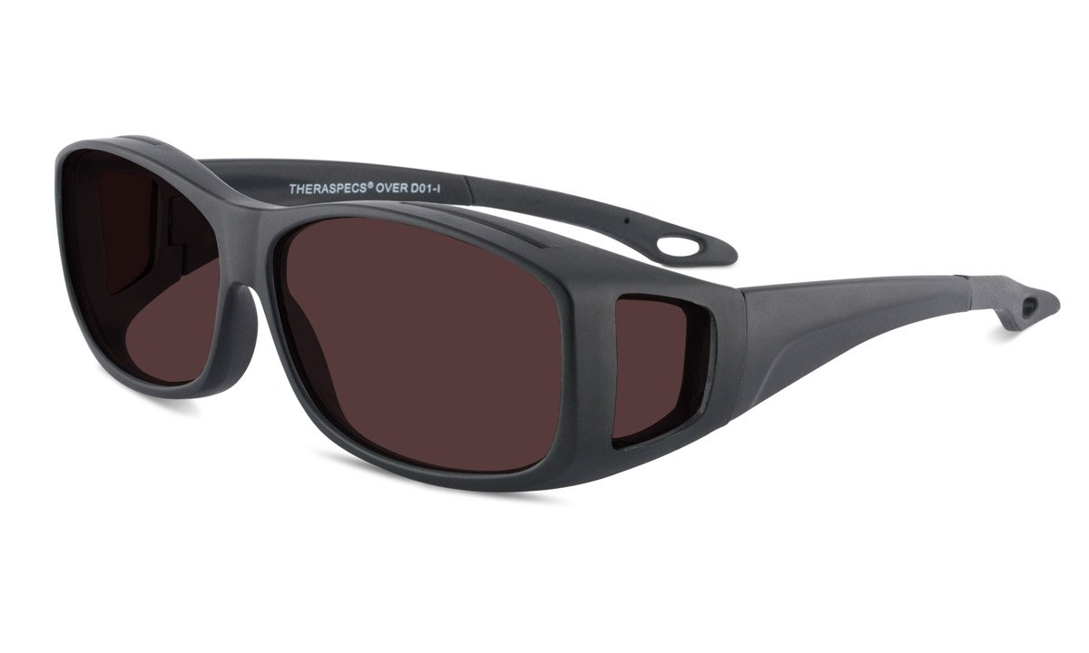 TheraSpecs Over Migraine Glasses for Light Sensitivity, Photophobia and Fluorescent Lights | Fits Over Prescription Eyewear | Unisex | Polarized Outdoor Lenses by TheraSpecs (Image #3)