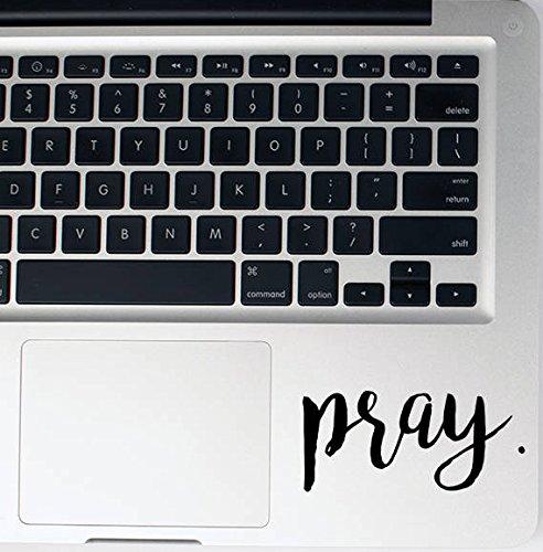 (Pray Decal 2 Pack Vinyl Sticker|Cars Trucks Vans Walls Laptop| Black |3.5 x 2 in|CCI1532)