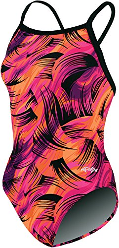 Dolfin Swimwear Winners V-2 Back Prints - Purple/Pink Siren, 24