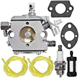 WA-2-1 Carburetor for Chainsaw Stihl 030 031 031AV Paramount PLT2145 Poulan 112 DPT112 Weed Eater LT7000 GTI17LE GTI52 SST45 w/Fuel Line Fuel Filter Gasket Spark Plug