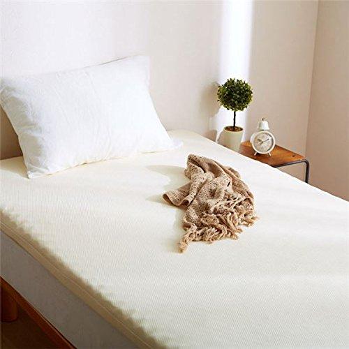 ウレタンマットレス 寝具 【シングル アイボリー】 リバーシブル 洗える カバー付き ベッド対応 敷物 B07CKYPK2Z アイボリー アイボリー