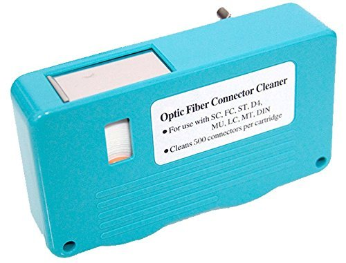 FiberShack - FTTH Fiber Optic Cleaning Box - Single and Multi Mode Optical Connectors - 500+ use Fiber Tape. by Fibershack