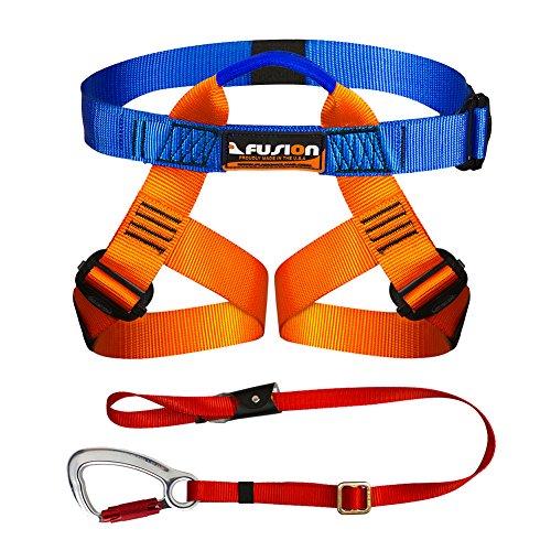 Fusion Climb Kids Backyard Zip Line Kit Harness Lanyard Bundle FK-K-HL-01 - Fusion Back Zip