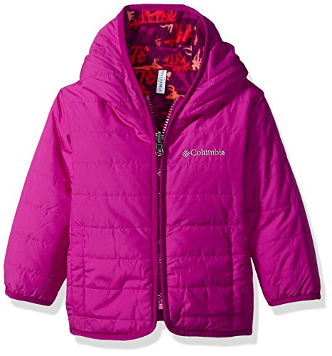 Columbia Baby Girls' Double Trouble Jacket, Bright Plum Critters, 18-24 Months