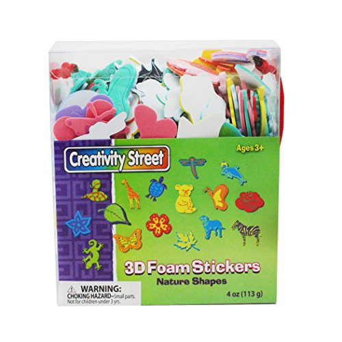 (Chenille Kraft CK-9096BN 3D Foam Sticker Box Nature Theme Wonderfoam Peel & Stick (6 Box), 6