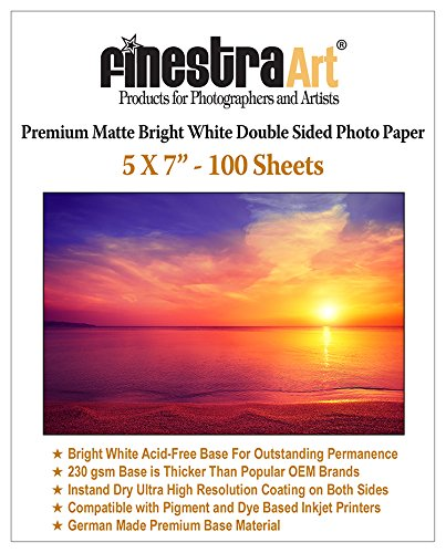 Paper Inkjet Matte White Bright (5x7