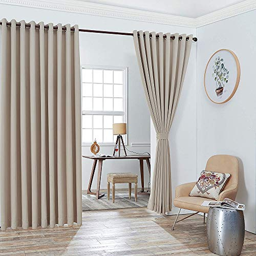 Cheap  Warm Home Designs Extra Large 2 Ivory Wall to Wall Curtains 108