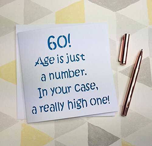 60th Birthday Card Funny Birthday Card Amazon Handmade