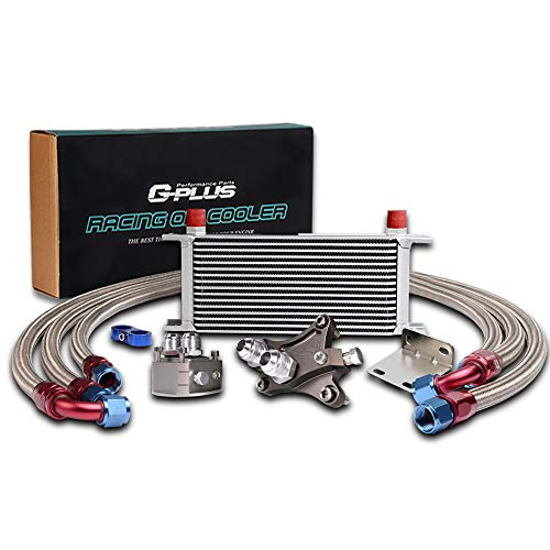 16 Row Oil Cooler Kit For NISSAN Silvia S13 S14 180SX 200SX 240SX SR20DET TURBO