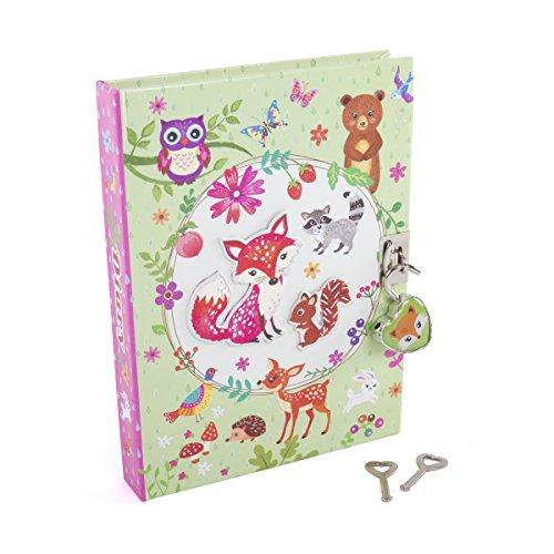 Hot Focus Flower Critter Secret Diary with Lock - 7