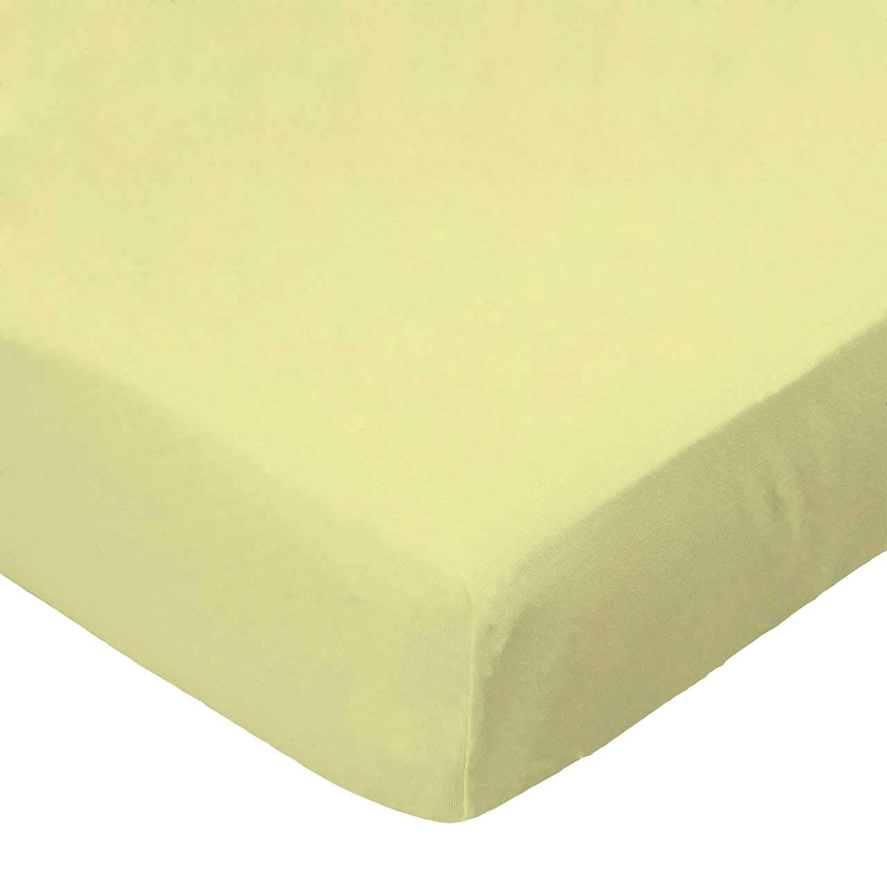 SheetWorld Fitted Pack N Play (Graco) Sheet - Solid Yellow Woven - Made In USA by sheetworld   B0029ZGU62