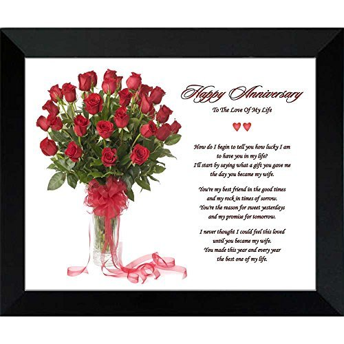 """Anniversary Gift for Wife """"To The Love Of My Life"""" Poem i..."""