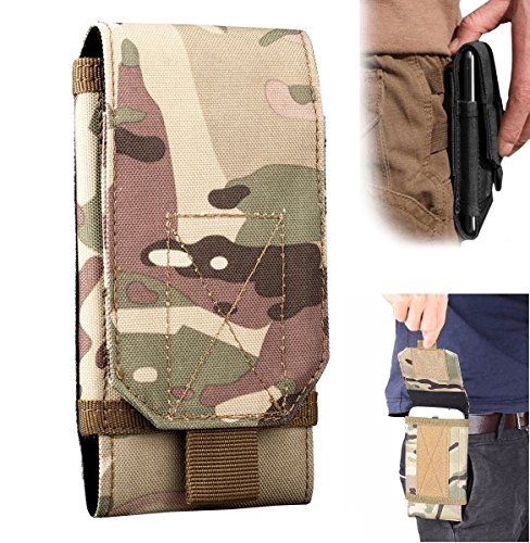 Efanr Universal Outdoor Tactical Holster Military Waist Belt Bag Wallet Pouch Purse Case, Universal Compatible with Most Smartphones Cell Phones up to 6 inch (Multicam)