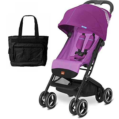 Goodbaby GB QBIT Plus Baby Stroller with Diaper Bag Posh Pink by The Good Baby