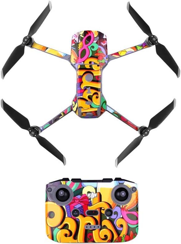 BSTEEN imperm/éable color/é Peau PVC Autocollants de Protection T/él/écommande pour DJI Air 2 Drone Mavic Accessoires Bras Orange