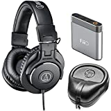Audio-Technica ATH-M30x Professional Headphones Amp Bundle Includes,...