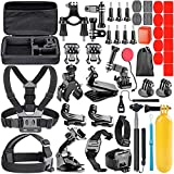 Neewer Action Camera Accessory Kit, 50-In-1 Accessory Compatible with GoPro Hero 9 8 Max 7 6 5 4 Black GoPro 2018 Session Fusion Silver White Insta360 DJI AKASO APEMAN Campark SJCAM Action Camera