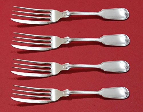 Fiddle Thread by Frank Smith Sterling Silver Fish Fork Set 4pc AS Custom Made 7
