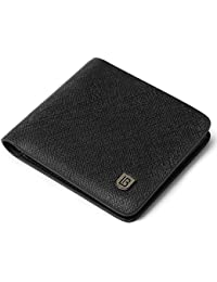 Leather Wallets for Men RFID Blocking Bifold Stylish Wallet With 2 ID Window