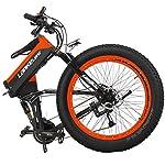qx-Scooter-Potente-Bici-Elettrica-1000W-26-Pollici-40-Fat-48V-10Ah-Ebike-27-Velocita-Mountain-Bike-Bicicletta-PieghevoleNero-Rosso