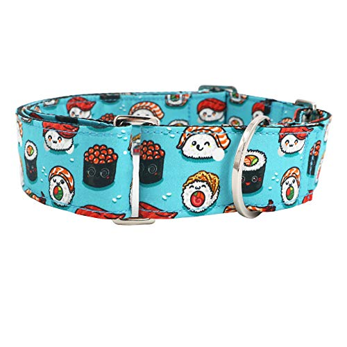 Wide Martingale Collar - Pet Safety Training Martingale Dog Collar No Buckle Greyhournd Martingale Collar Handmade Adjustable Collars