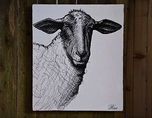 Sheep - Medium: 30x36'' - Salvaged Wood Wall Decor - Handmade in Sonoma Valley, CA - Perfect for Home or Office - Rue Sonoma Original Design by Rue Sonoma