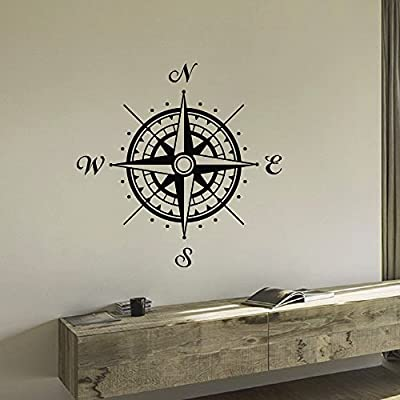Wall Decal Vinyl Sticker Wind Rose Compass Travel Geography Decor Sb687