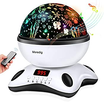 Moredig Night Light Projection Remote Control Lamp