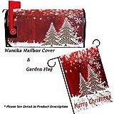 Merry Christmas Tree Winter Snowflake Pine Mailbox