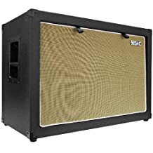 Seismic Audio-2x12 Guitar Speaker Cab Empty-7 Ply Birch-212 Speakerless Cabinet New 12-Inch Tolex-Black Tolex-Wheat Cloth Grill-Front or Rear Loading Options