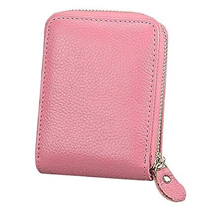 Credit Card Holder RFID Blocking Cards Case Zipper Organizer Security Wallet for Men Women