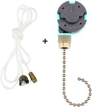 ZE-268S6 - Interruptor de ventilador de techo (3 velocidades, 4 cables, interruptor de ventilador de techo con cable para ventilador de pared: Amazon.es: Bricolaje y herramientas