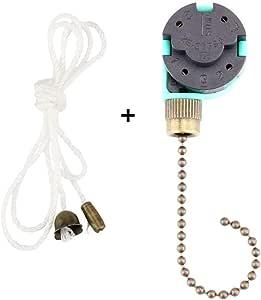 ZE-268S6 - Interruptor de ventilador de techo (3 velocidades, 4 ...