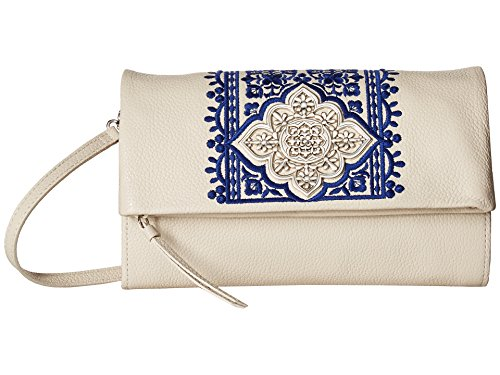 (Brighton Casablanca Garden Flap Organizer Crossbody (White-Blue) )