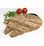 Millennium Falcon Board - Wooden Cutting Board - Engraved Wooden Plate - Rustic Cutting Board -...